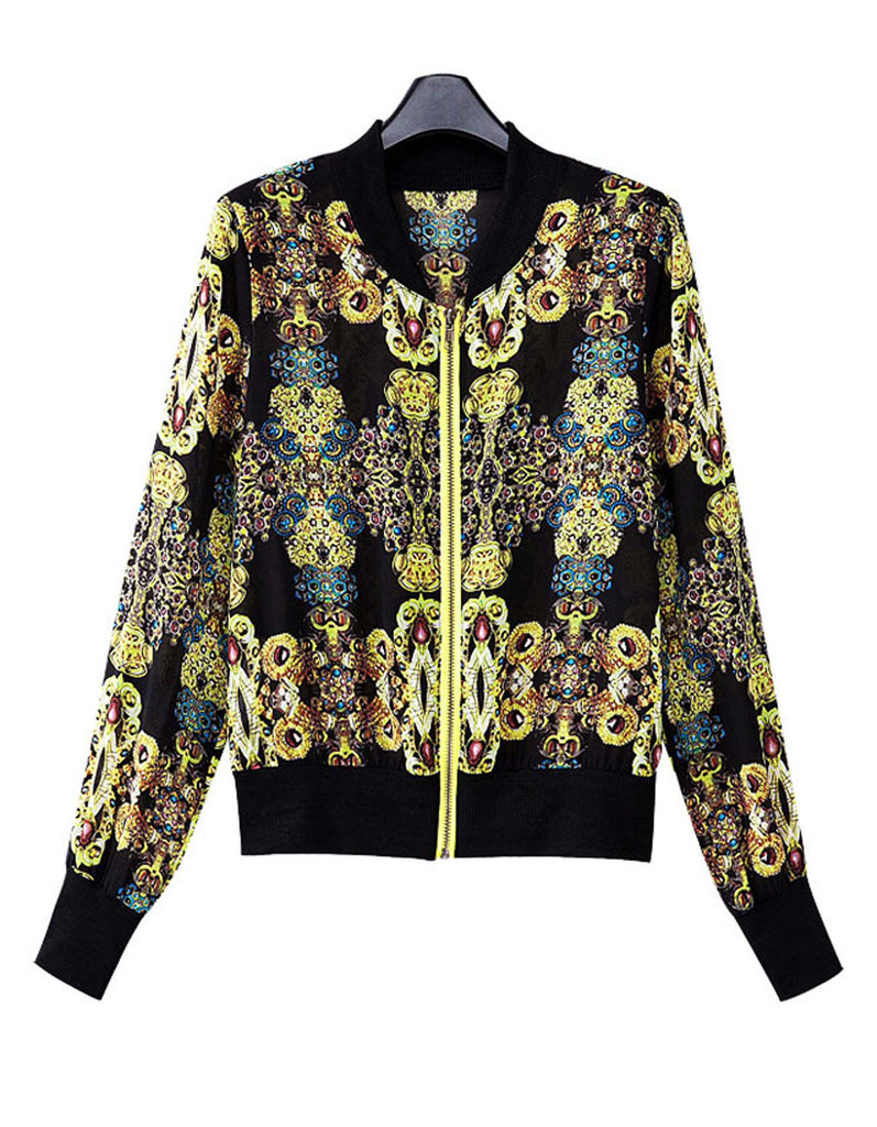 Fashion Light Gold-Black Jacket