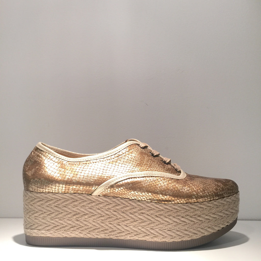 Animal Print Gold Sneaker Platform