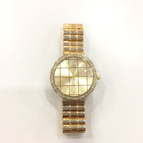 Elegant Gold Rhinestone Watch