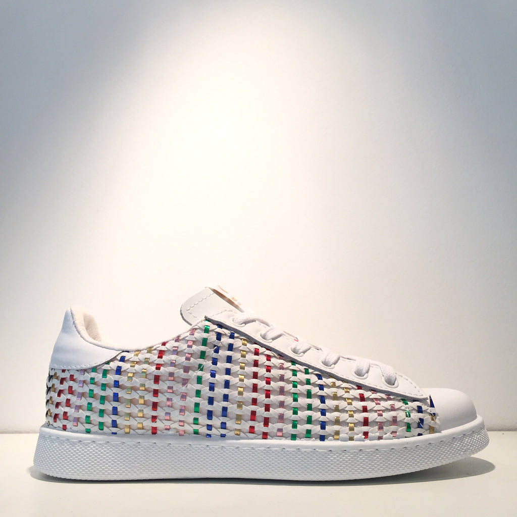 Fashion Couture White Multi-Color Sneaker