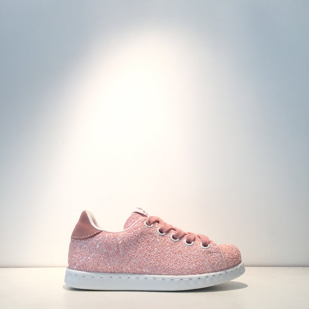 Kid's Fashion Pink Glitter Sneaker