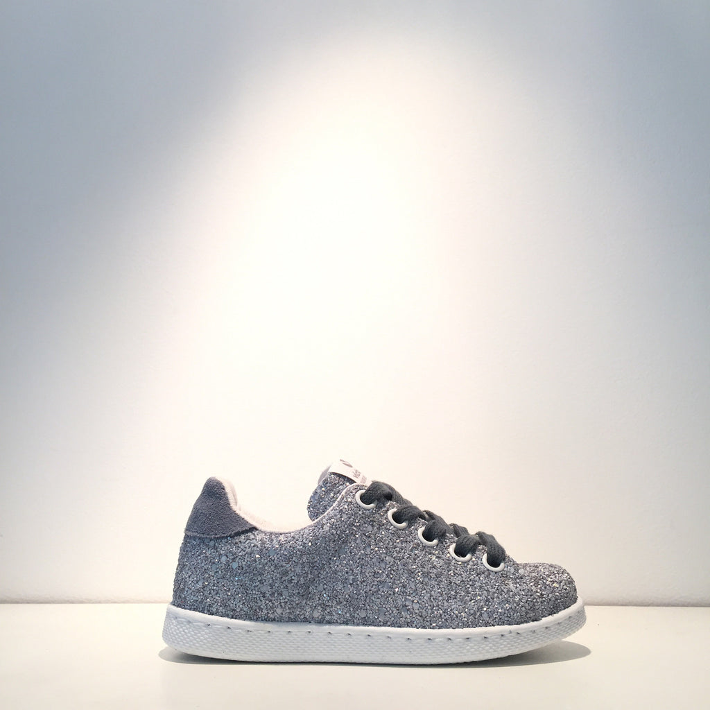 Kid's Fashion Blue Glitter Sneaker