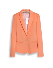 Summer Orange Slim Jacket