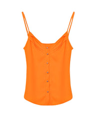 Neon Orange Blouse Spaghetti Strap