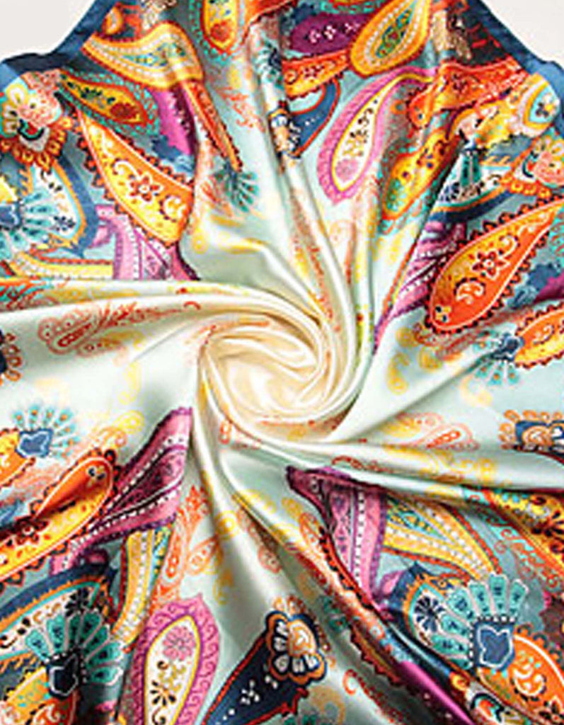 Paisley Multicolor Silk Square Scarf