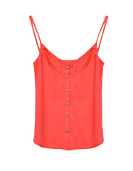 Rose Red Blouse Spaghetti Strap