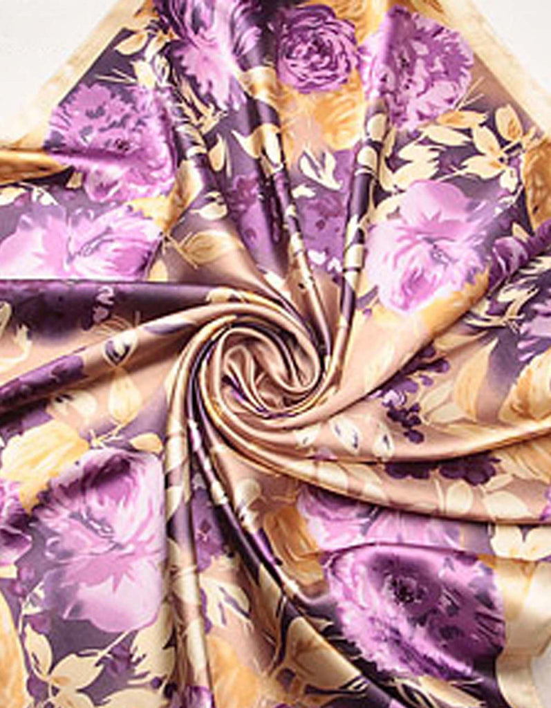 Pink Rose Silk Square Scarf