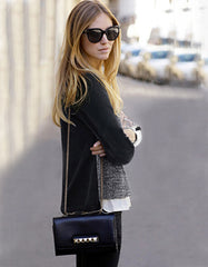 Elegant Black and Grey Knitwear
