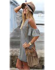 T shirt dress With Butterfly sleeves