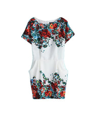 Floral Mini Cocktail Summer Dress