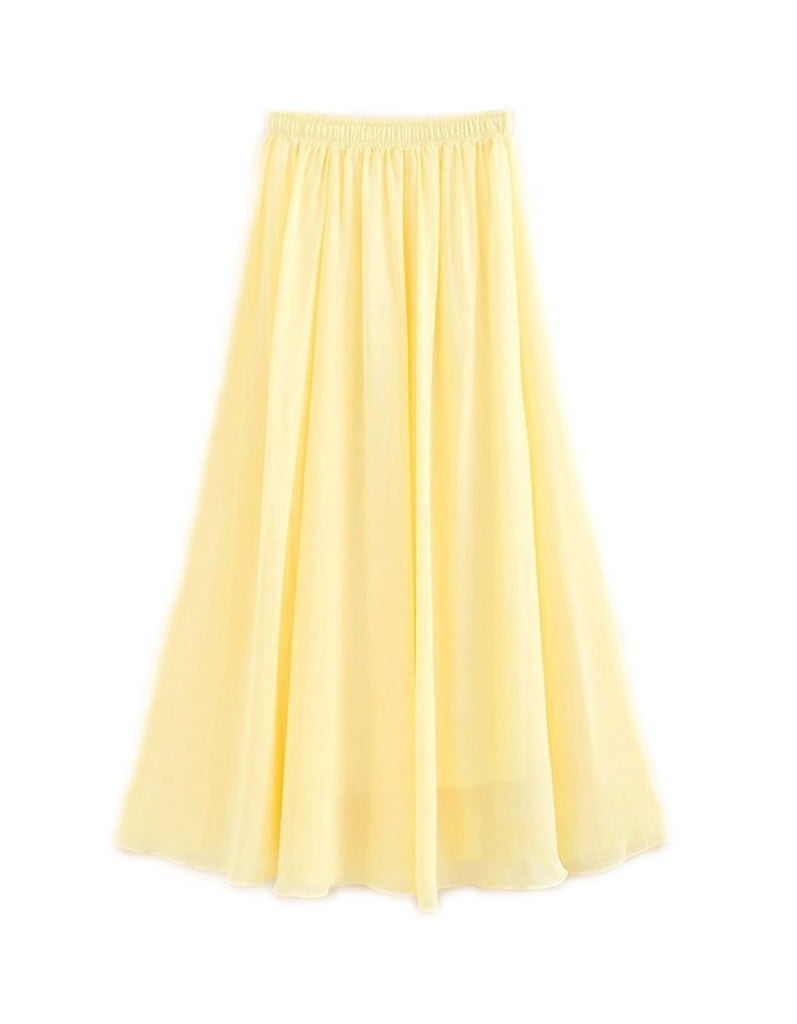 Summer Yellow Maxi Skirt