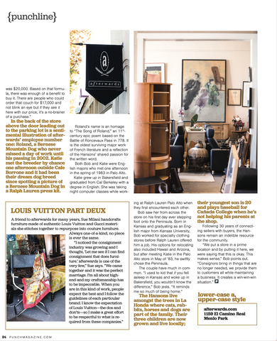 Screenshot of Punch Magazine article featuring Bob and Katie Hanson