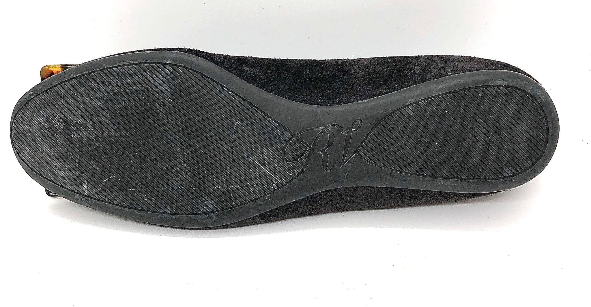 Roger Vivier Charcoal Size 36.5 Flat Women's Shoes