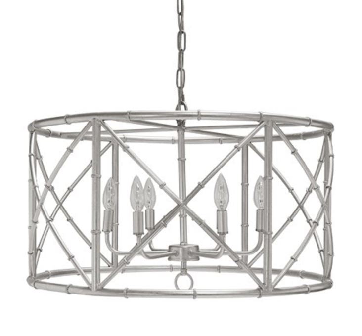 Shades of Light Crossed Bamboo Drum Chandelier