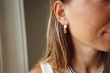 Load image into Gallery viewer, Precious Pearl + Stone Earrings