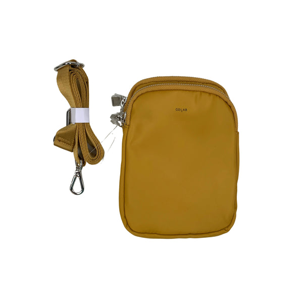 Co-lab Mustard Purse With Attachable Strap - Chic Thrills