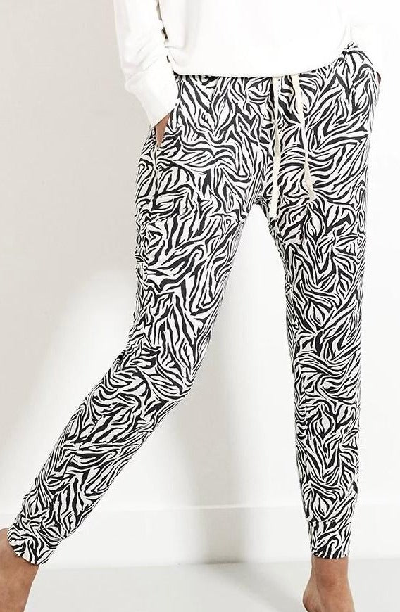 Stripe and Stare Zebra Print Joggers - Chic Thrills Boutique