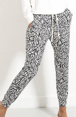 Load image into Gallery viewer, Stripe and Stare Zebra Print Joggers - Chic Thrills Boutique