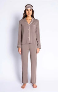 P.J. Salvage Taupe 3 Piece PJ Set - Chic Thrills Boutique