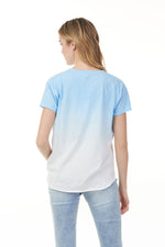 Load image into Gallery viewer, Charlie B Azure Ombre Tee