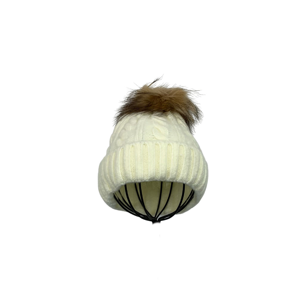 Miss Caprice Cream Tuque - Chic Thrills