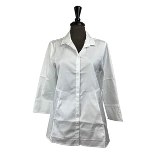 Habitat White Button Up - Chic Thrills Boutique