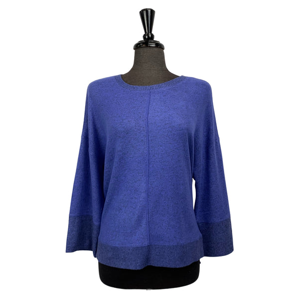 Habitat Royal Blue Rib Trim Boxy Crew Neck - Chic Thrills
