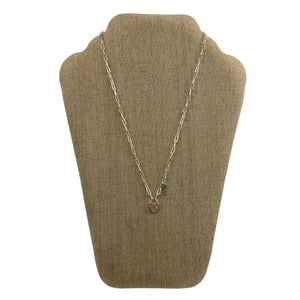 Faux Silver Lock and Key Necklace - Chic Thrills