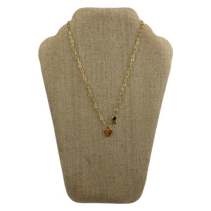 Faux Gold  Lock and Key Chain Necklace - Chic Thrills