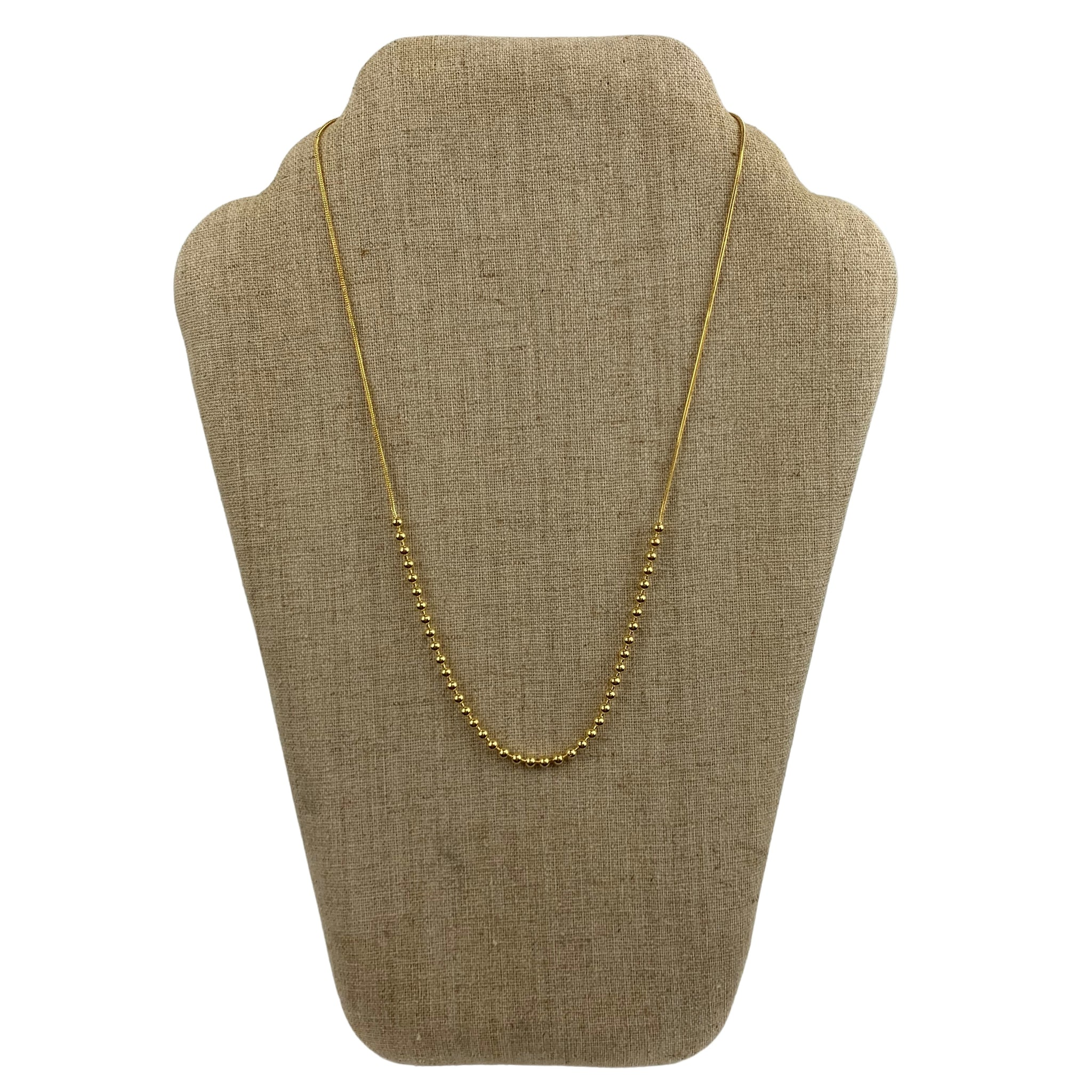 Faux Gold Beaded Necklace - Chic Thrills