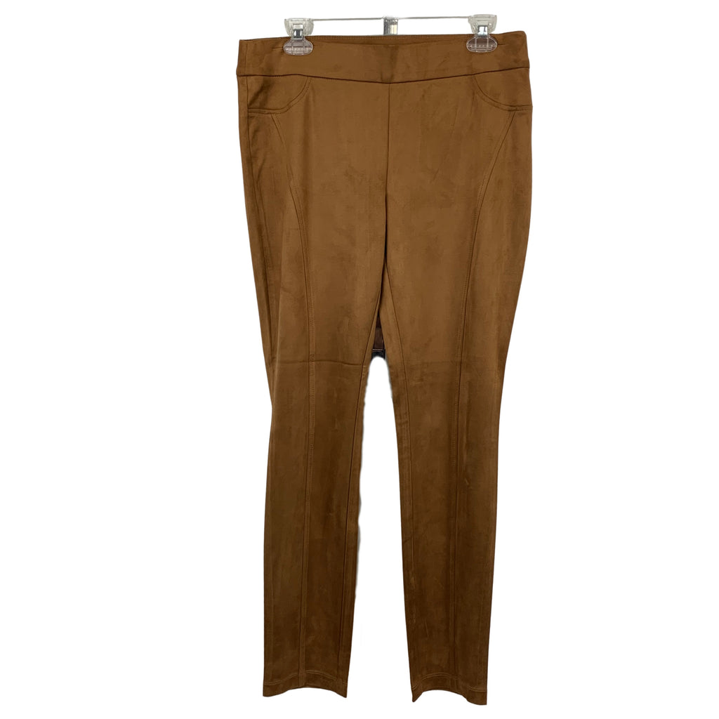 Charlie B Camel Ultra-suede Bottoms - Chic Thrills Boutique