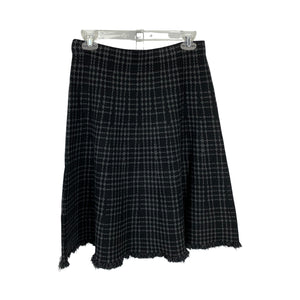 Charlie B Elastic Waist Charcoal Plaid Skirt - Chic Thrills