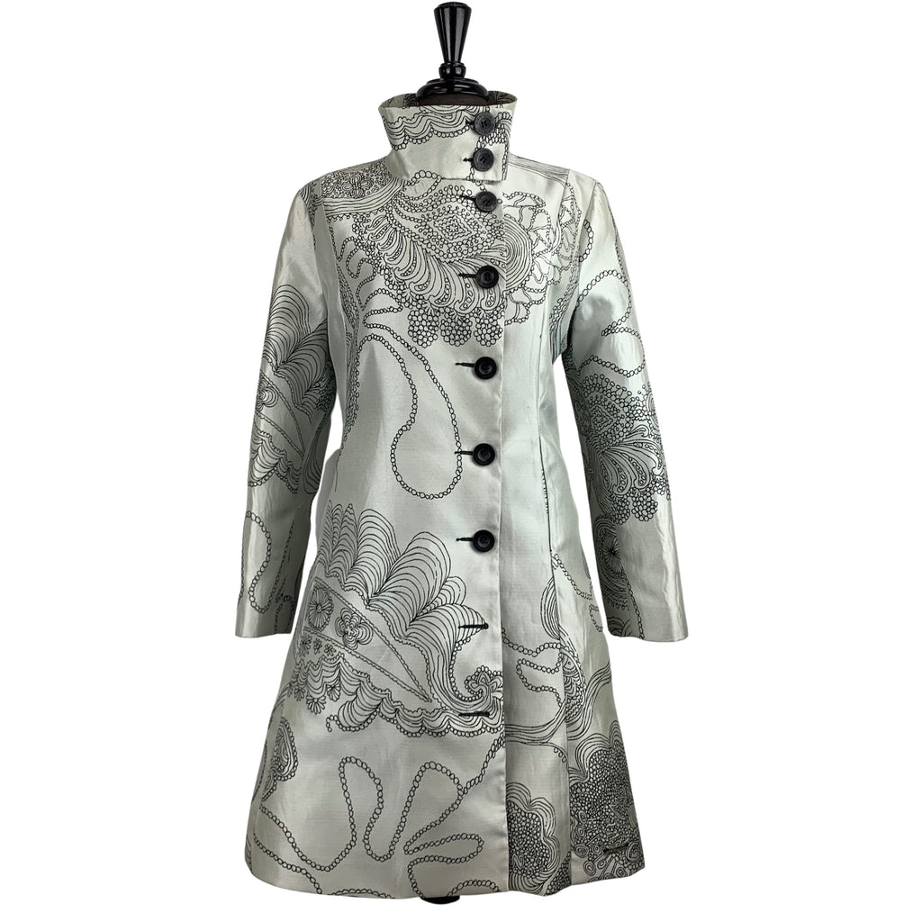 Desigual Embroidered Coat - Chic Thrills Boutique
