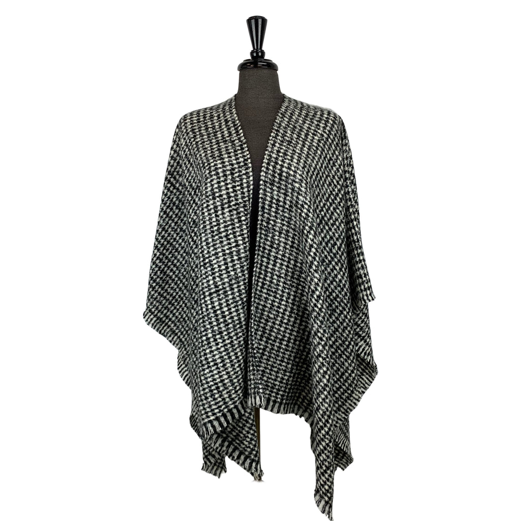 Fraas Black Checkered Wrap - Chic Thrills