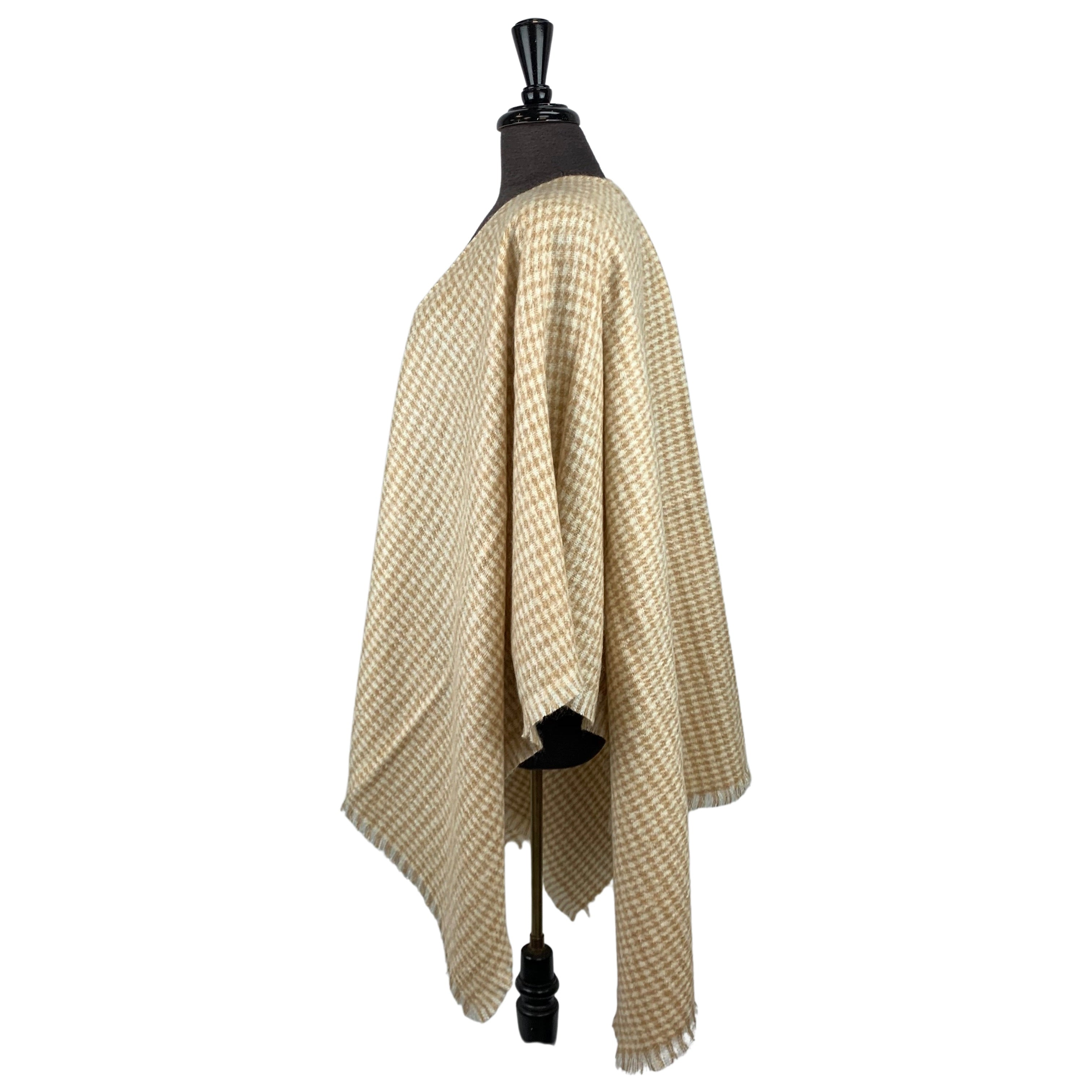 Fraas Camel Checkered Wrap - Chic Thrills