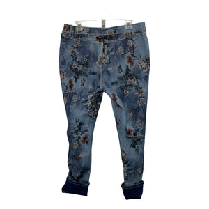 Charlie B Reversable Dark Jeans with Floral Print - Chic Thrills Boutique