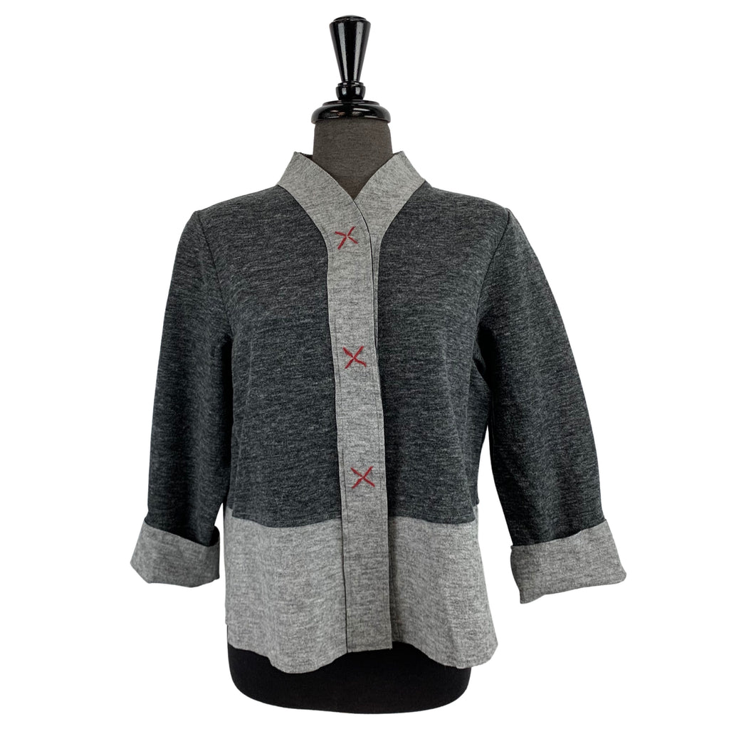Habitat Grey with Red Stitch Jacket - Chic Thrills Boutique