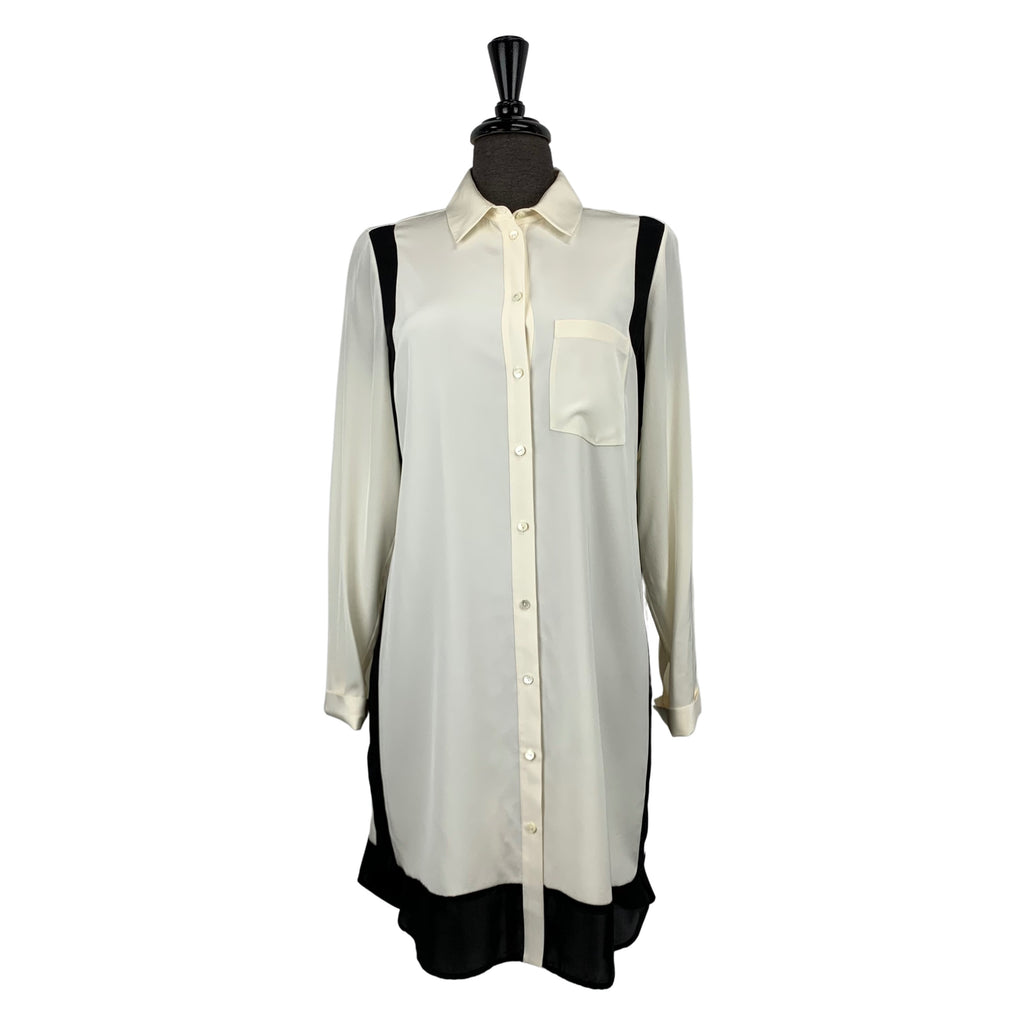 Vince Black and White Silk Blouse - Chic Thrills