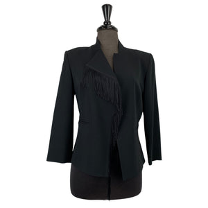Periphery Frayed Black Jacket - Chic Thrills