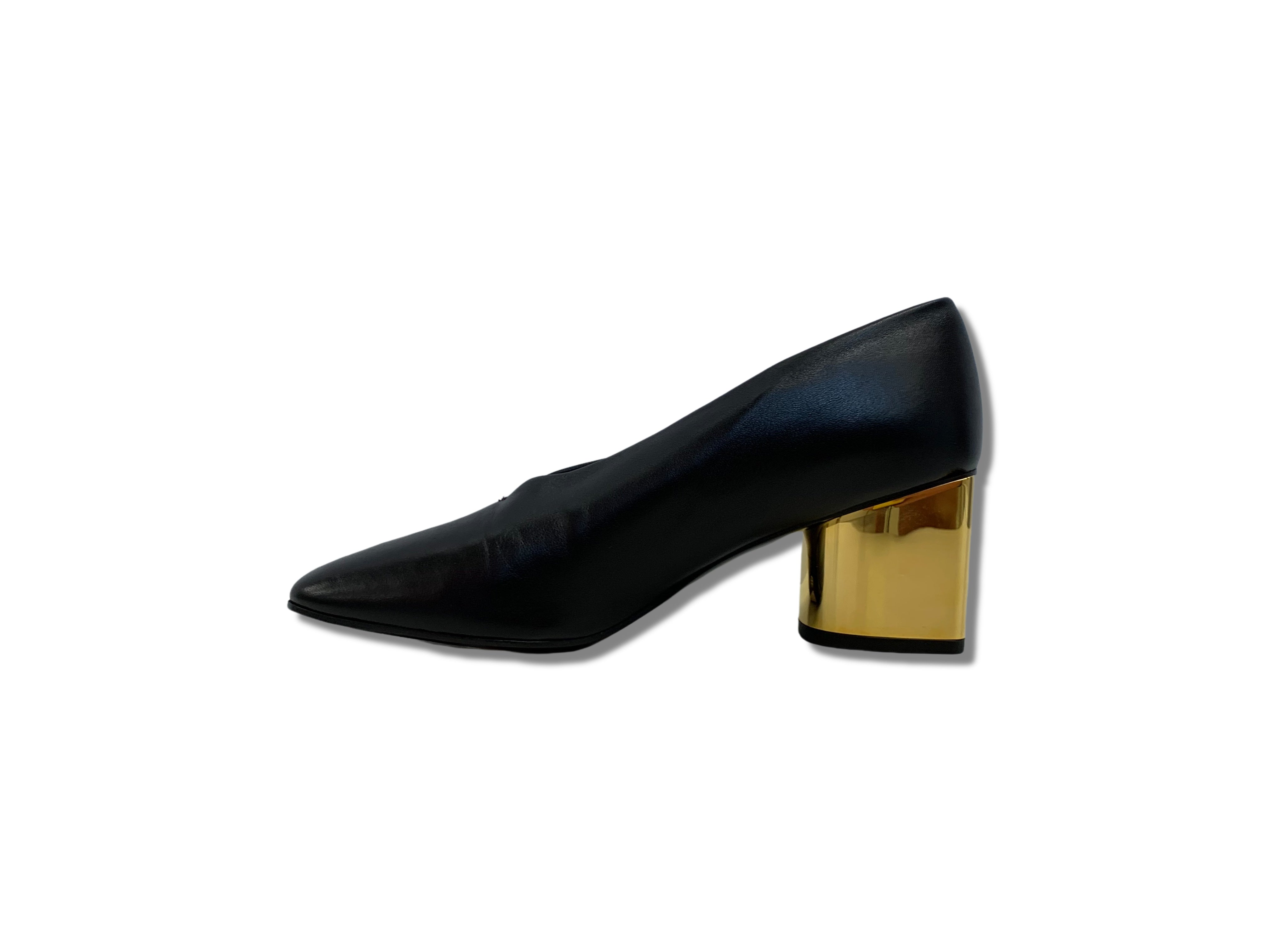 Proenza Black and Gold Heels - Chic Thrills