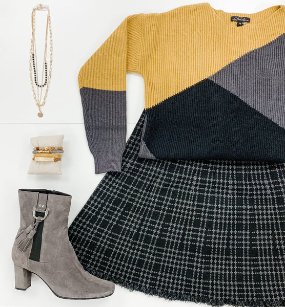 Charlie B Amber Colorblocking Sweater