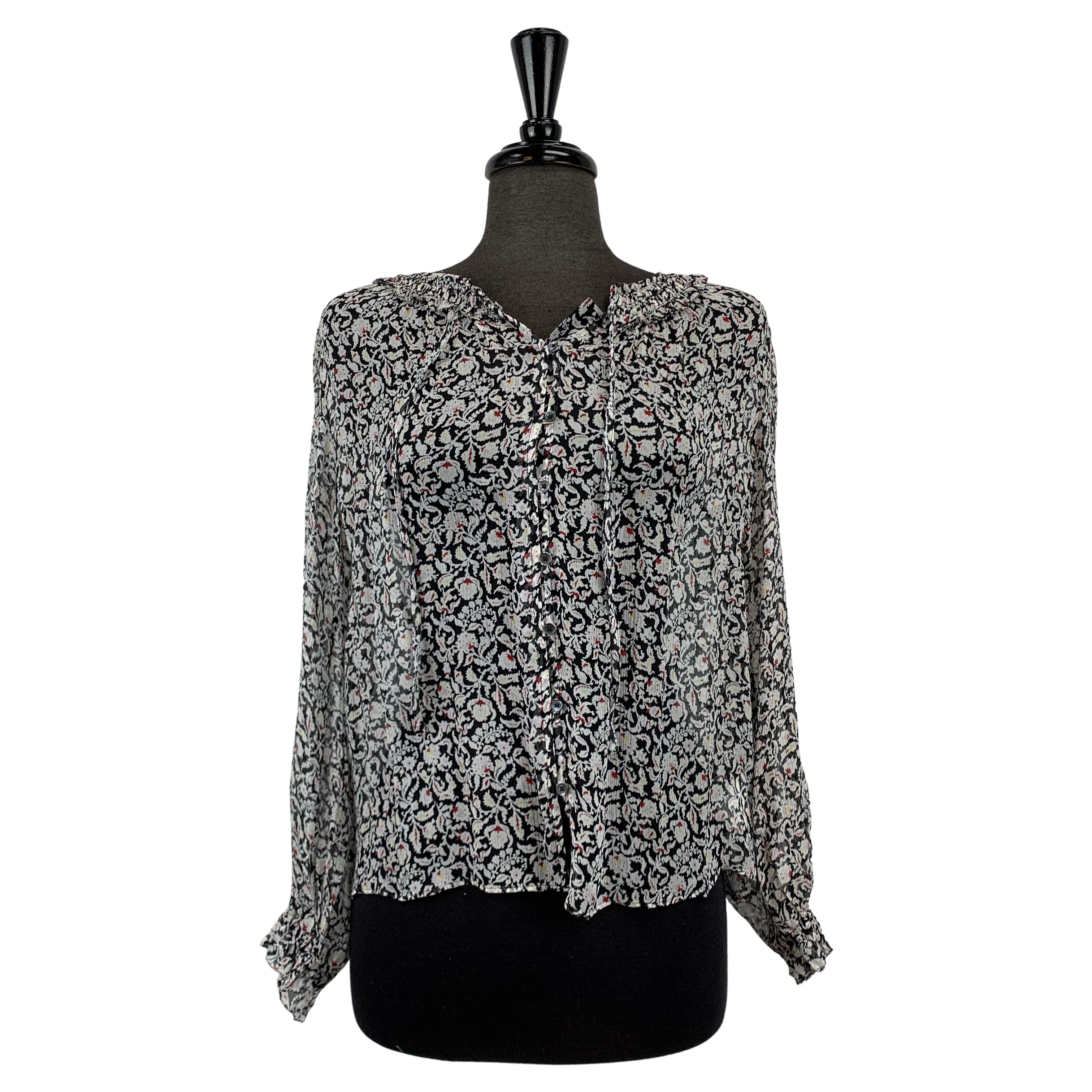 Joie Floral Silk Blouse - Chic Thrills Boutique