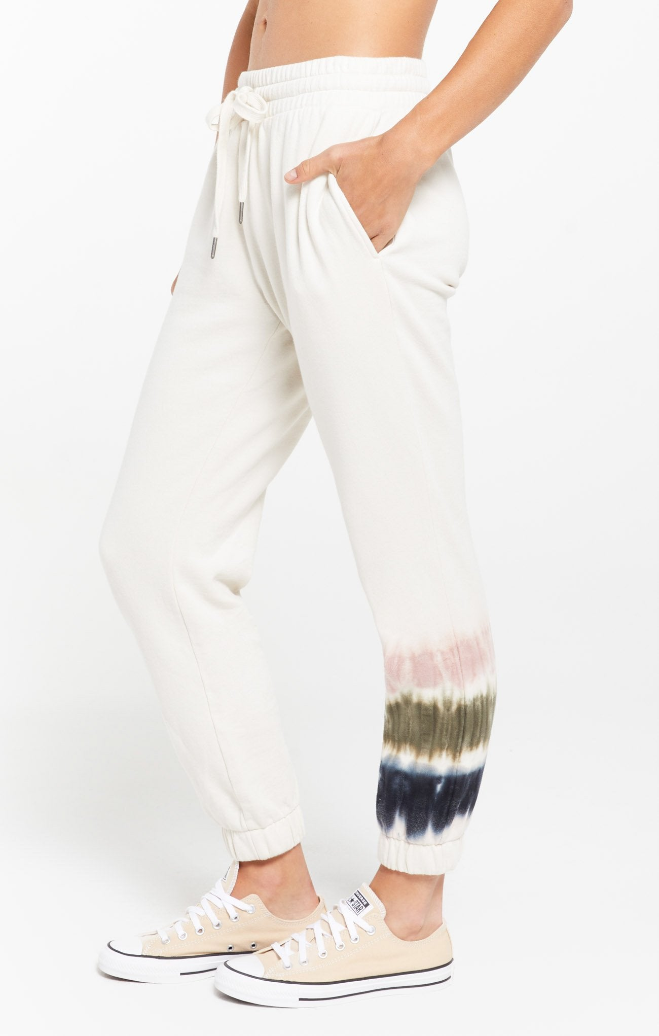Z Supply Selene Stripe Tie-Dye Fleece Joggers