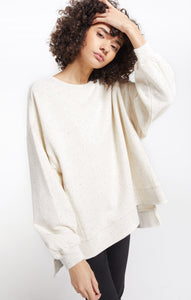Z Supply Cream Speckled Sweater - Chic Thrills Boutique