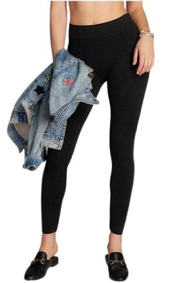 C'est Moi Bamboo Heather Leggings Black - Chic Thrills Boutique