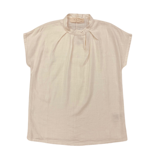 PAN Natural Buttoned Colar Blouse