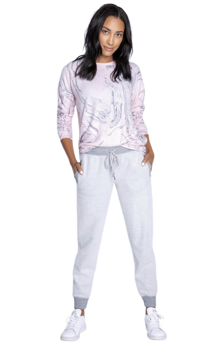 PJ Salvage Camo Bloom Solid Fleece Jogger - Chic Thrills Boutique