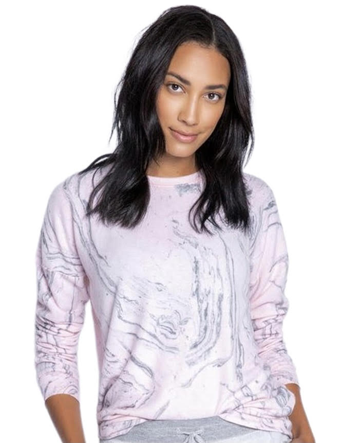 PJ Salvage Marvelous Marble Long Sleeve Top - Chic Thrills Boutique