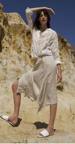 Load image into Gallery viewer, Zaket & Plover Flax Asymmetrical Skirt