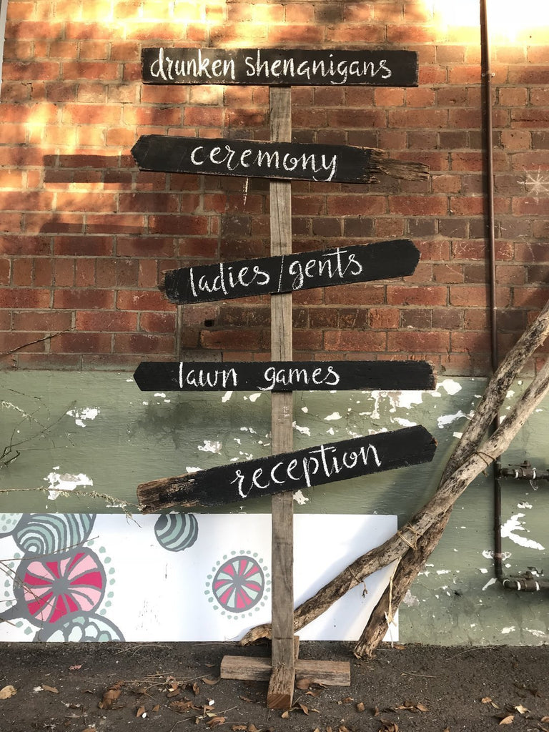 Chalkboard Sign – directional